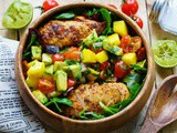 Chicken Salad with Avocado and Mango Salsa