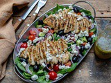 Healthy Grilled Chicken Salad Recipe (Greek Style)