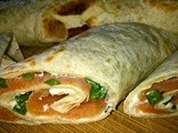 Salmon and Cream Cheese Wraps with Chives