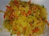 Sauerkraut and Carrot Side Dish
