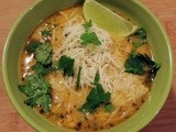Creamy White Chicken Chili with Roasted Poblano Peppers