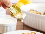 Grilled Artichokes with Lemon Garlic Sauce