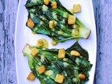 Grilled Baby Romaine Lettuce with Parmesan Vinaigrette