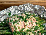 Lemon Garlic Salmon Foil Packs