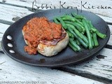 Pork Chops with Roasted Red Pepper Sauce {t-fal Cookware Sneak Peek}
