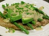 Rachael Ray Wednesday - Veal Scallopine with Dijon Sauce, Asparagus, and Avocados