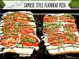 Roasted Garlic Caprese Style Flatbread Pizza