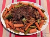Slow Cooker Pot Roast with Red Wine Balsamic Gravy