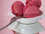 Pomegranate-White Chocolate Macarons, Baking to Bring Forth Pinktober Awareness