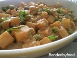 Peas and potato curry