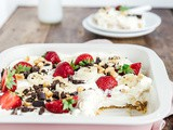 No bake bananensplit cheesecake