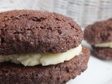 Oreo-style chocolate cookies with white chocolate filling, gluten, corn and tapioca free