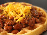 Cornbread and Chili Waffles