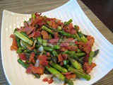 Asparagus with Bacon and Onion