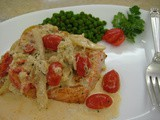 Broiled Salmon with Tarragon Crab Sauce