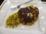 Indian Curry Leaf Fish on Cauliflower Pilaf