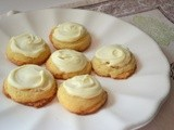 Baked Sunday Mornings - Lime Tarragon Cookies w/White Chocolate Topping