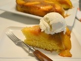 Baked Sunday Mornings - Whiskey Peach Upside-Down Cake