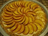 Nectarine and Cashew Cream Tart *gluten and mostly dairy free