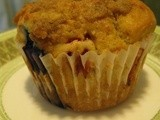 Strawberry and Blueberry Muffins with a Streusel Topping