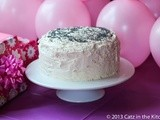 Almond Poppy Seed Spice Cake with Buttercream Frosting