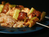 Grilled Jambalaya Skewers