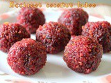 Beetroot coconut ladoo recipe – How to make beetroot coconut laddu recipe – ladoo recipes