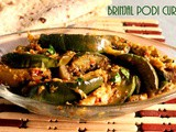 Brinjal dry curry or brinjal podi curry recipe- how to make eggplant stir-fry curry