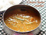 Cluster beans sambar recipe – How to make clusterbeans sambar recipe – sambar recipes