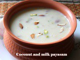 Coconut milk rice kheer recipe – How to make coconut and rice payasam – kheer recipes