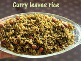 Curry leaves rice recipe – How to make karibevu chitranna or karuveppilai sadam recipe – rice recipes