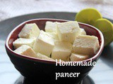 Homemade paneer recipe – How to make soft paneer at home