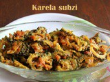 Karela subzi recipe – How to make bittergourd curry recipe – Karela recipes
