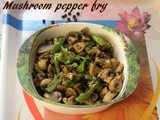 Mushroom pepper fry recipe – How to make mushroom pepper fry recipe