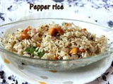 Pepper rice recipe – how to make pepper flavoured rice – Indian rice recipes
