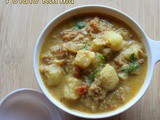 Potato kurma recipe – How to make aloo kurma recipe – side dish for rotis/puris