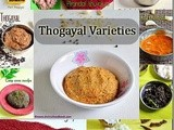 15 thogayal recipes/thuvaiyal varieties for rice