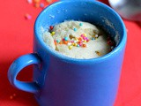 Eggless vanilla mug cake recipe-microwave recipes