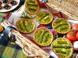 Asparagus Tarts with a Pesto Surprise aka Asparagoose Tarts