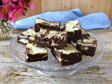 Black Velvet Cheesecake Swirl Brownies with Stout Caramel Sauce