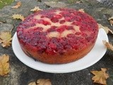 Chilli Cardamom Cranberry Upside Down Cake for Clandestine Cake Club