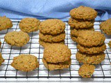 Crunchy Peanut Butter Cookies with Zesty Orange & Oats