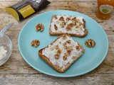 Curd Cheese, Honey & Walnuts on Toast and Wild Honey & Rye