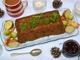 Lentil & Brazil Nut Roast with Sage & Onion Stuffing & Red Wine Gravy