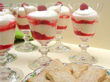 Raspberry Syllabub with Chardonnay Vanilla Biscuits