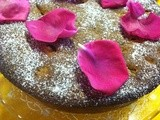 Rhubarb and Rose Polenta Cake - Random Recipes #30