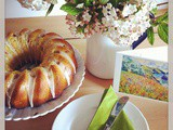 Rhubarb Bundt Cake with Ginger Glaze