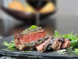 Steak with Black Truffle Sauce