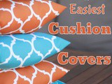 Sew a quick and easy cushion cover