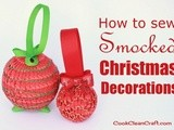 Smocked Christmas Ornaments
